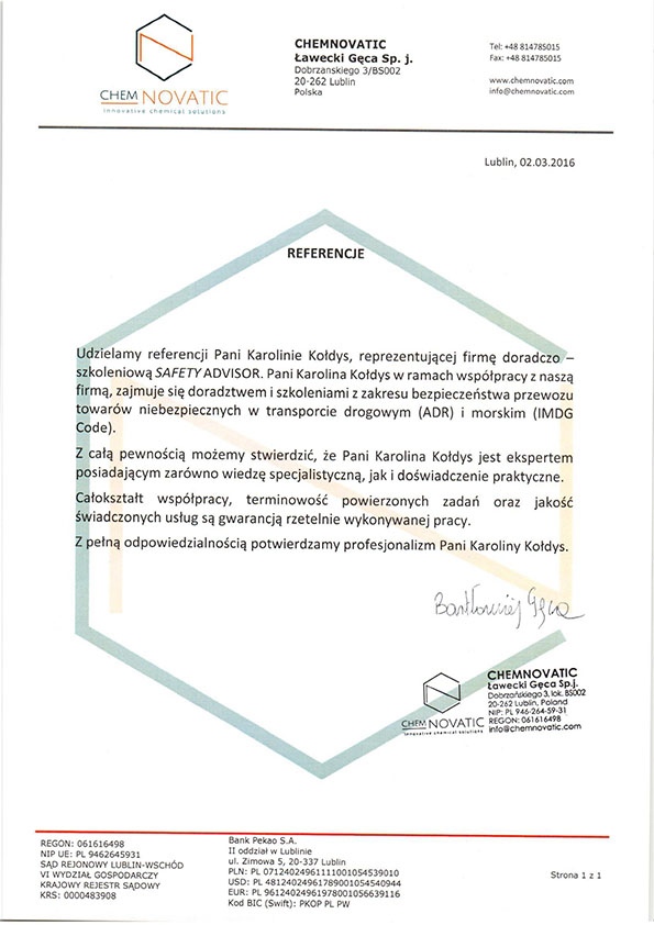 Branża chemiczna - Chemnovatic