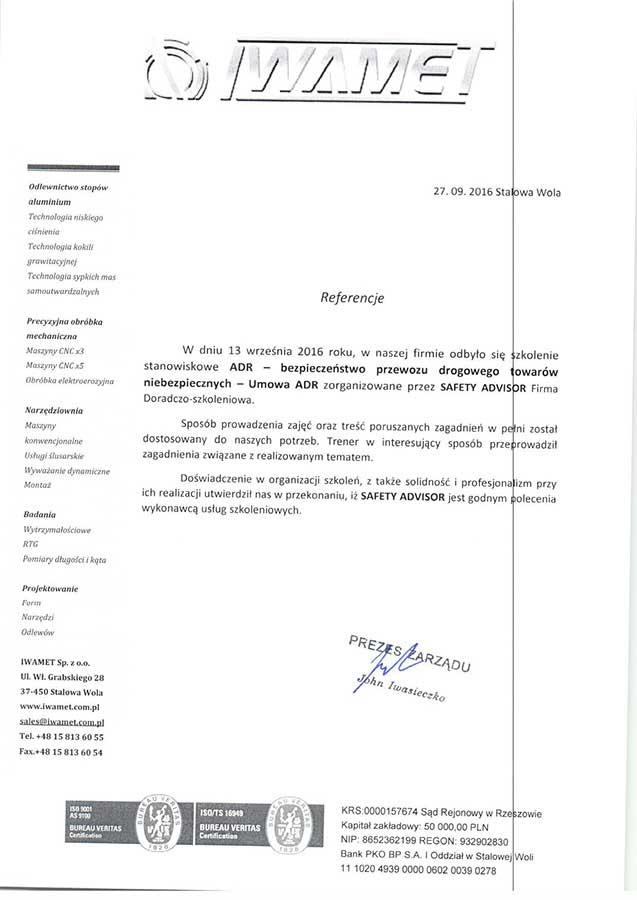 Branża produkcyjna, odlewnictwo metali - Iwamet Sp. z o.o.
