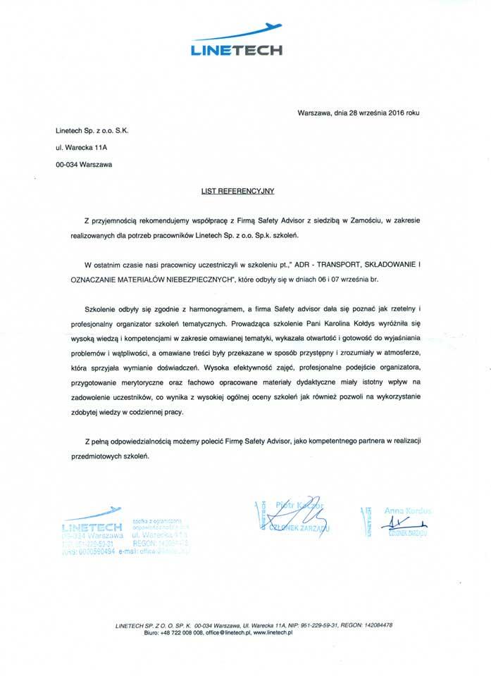 Branża lotnicza - Linetech