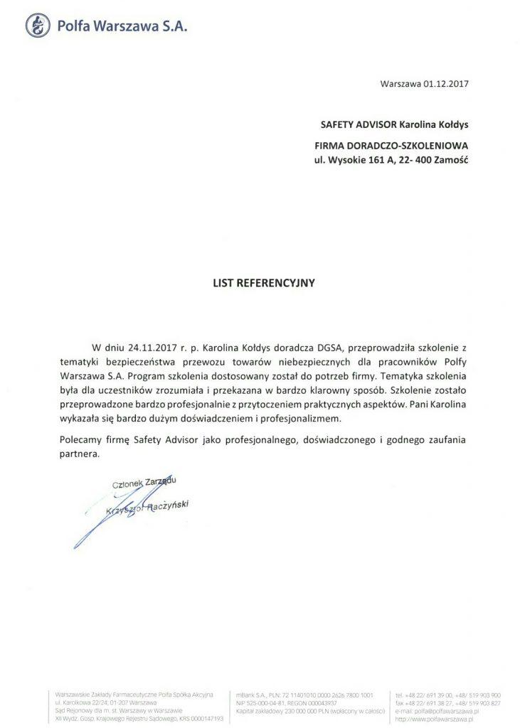 Branża Farmaceutyczna - Polfa S.A.