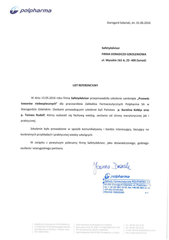Branża farmaceutyczna - Polpharma