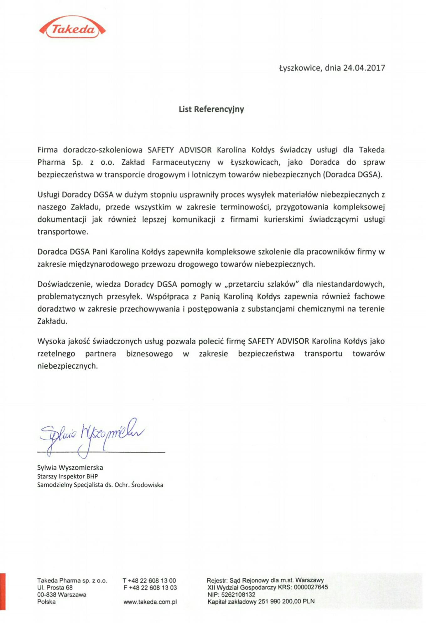 Branża Farmaceutyczna - Takeda Pharma Sp. z o. o.