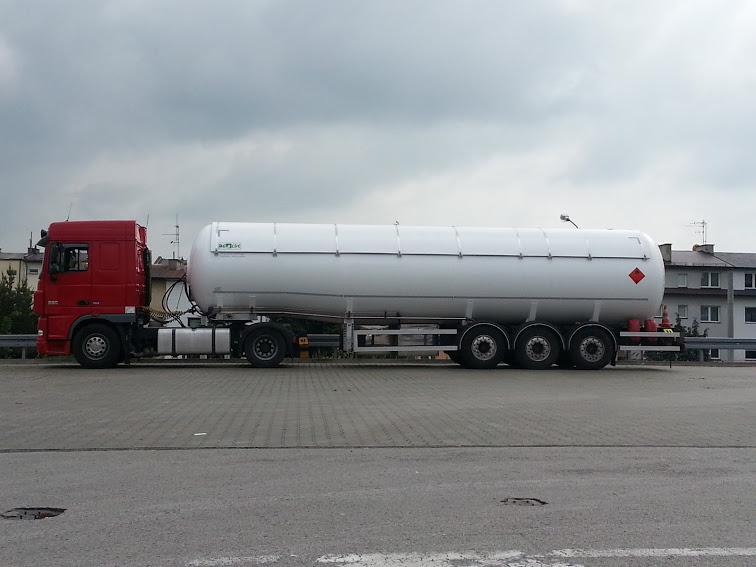 Przewóz gazu LPG w cysternie (UN 1965).