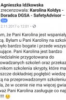 Referencje Facebook - Pani Agnieszka Idźkowska, Vektor Transport Polska Sp. z o. o.