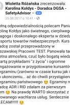 Referencje Facebook - Pani Wioletta Różańska, Michelin