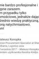 Referencje Linkedin - Pan Mateusz Konopka