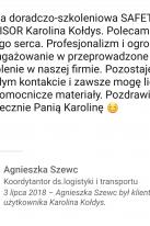 Referencje Linkedin - Pani Agnieszka Szewc