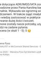 Referencje Linkedin - Pani Marzena Pysz